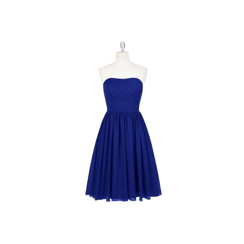 Wedding - Royal_blue Azazie Katie - Knee Length Side Zip Chiffon Sweetheart Dress - Cheap Gorgeous Bridesmaids Store