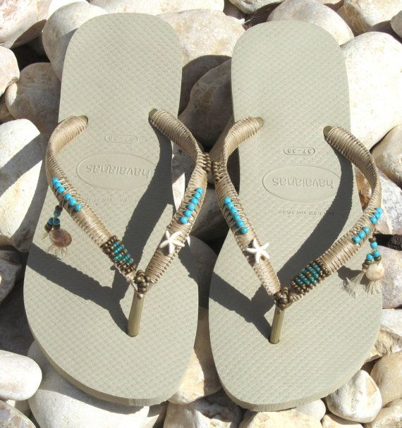 Mariage - Havaianas, Wedding Flip Flops, Boho Wedding Shoe, Decorated Flip Flops, Beach Flip Flops, Summer Sandals, Bridal Flip Flops, Festival Sandal