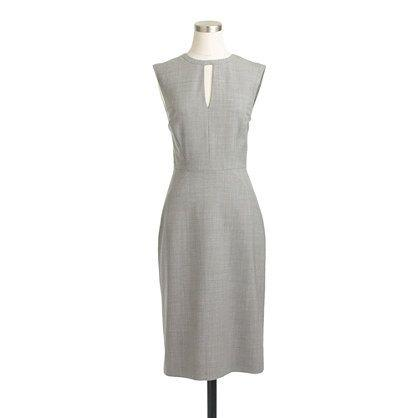 Wedding - Petite Keyhole Dress In Italian Stretch Wool