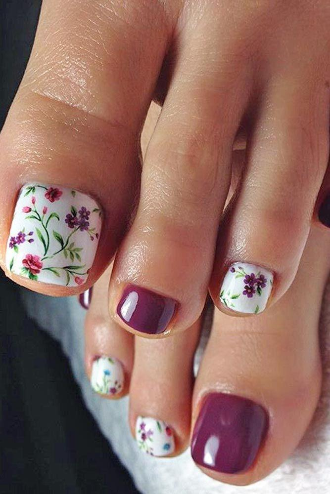 Boda - 27 Pretty Toe Nail Designs For Your Beach Vacation