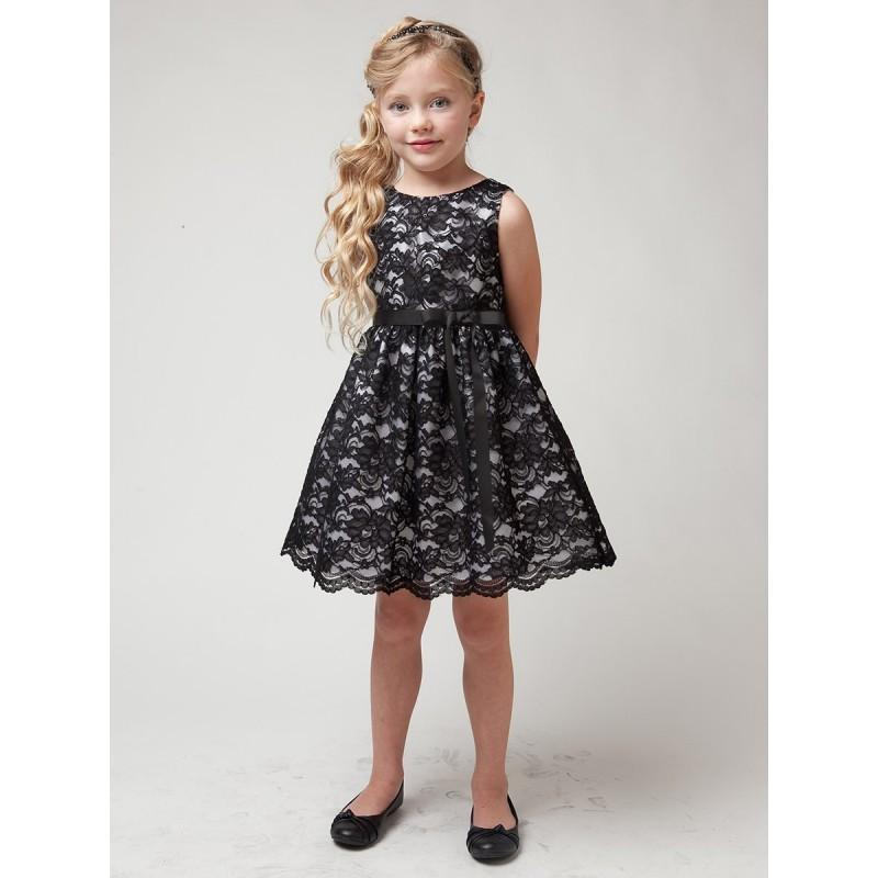Mariage - Black Lace Dress w/ Sash Style: D1227 - Charming Wedding Party Dresses