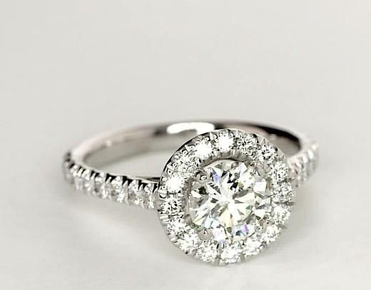 Wedding - 1.7CT Round Cut Solitaire Russian Lab Diamond Halo Engagement Ring