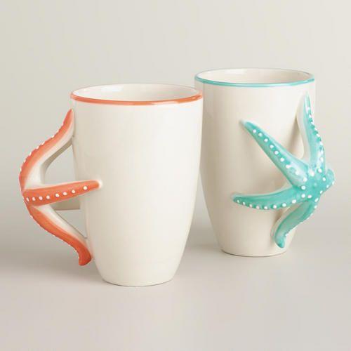 Wedding - Starfish Mugs, Set Of 2