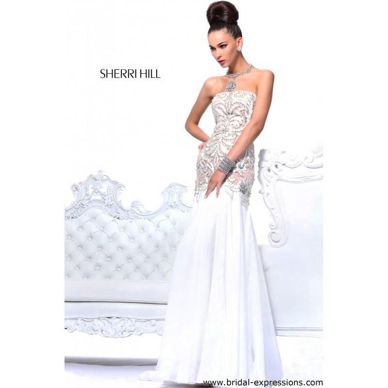 Hochzeit - Sherri Hill 21041 Lace and Chiffon Prom Dress - Crazy Sale Bridal Dresses