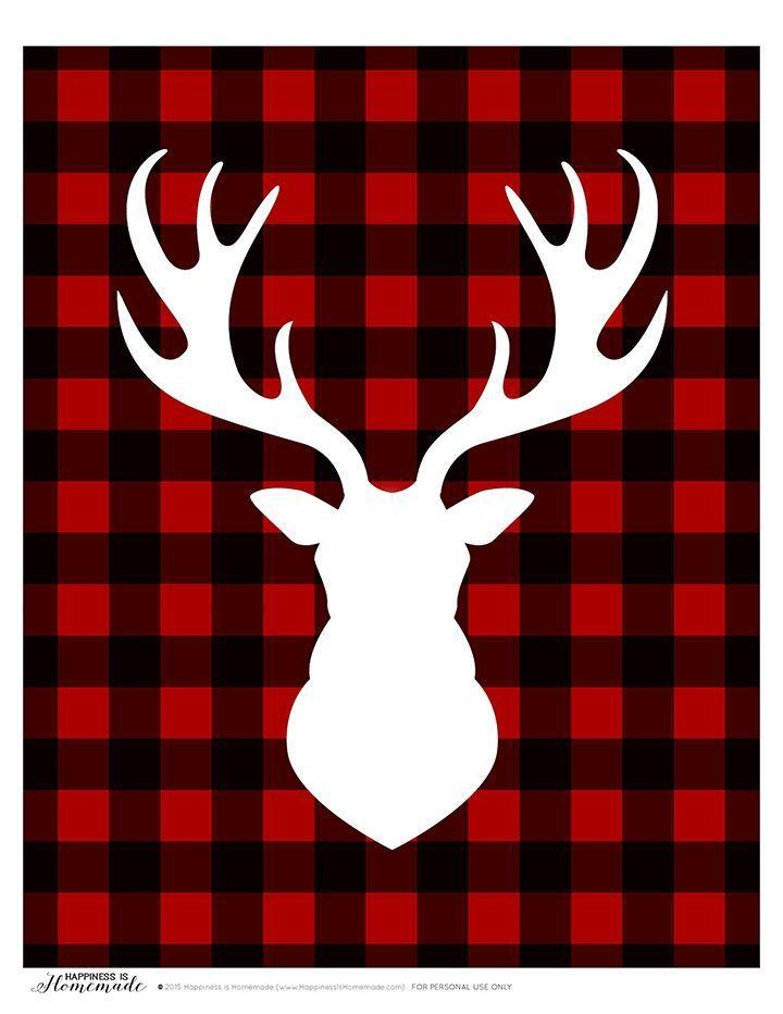 Boda - Buffalo Check Plaid Printable Gift Tags