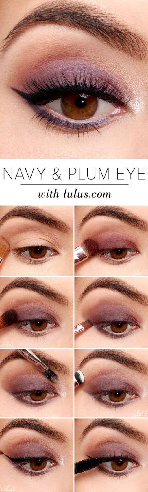 Mariage - Navy and Plum Eye Makeup