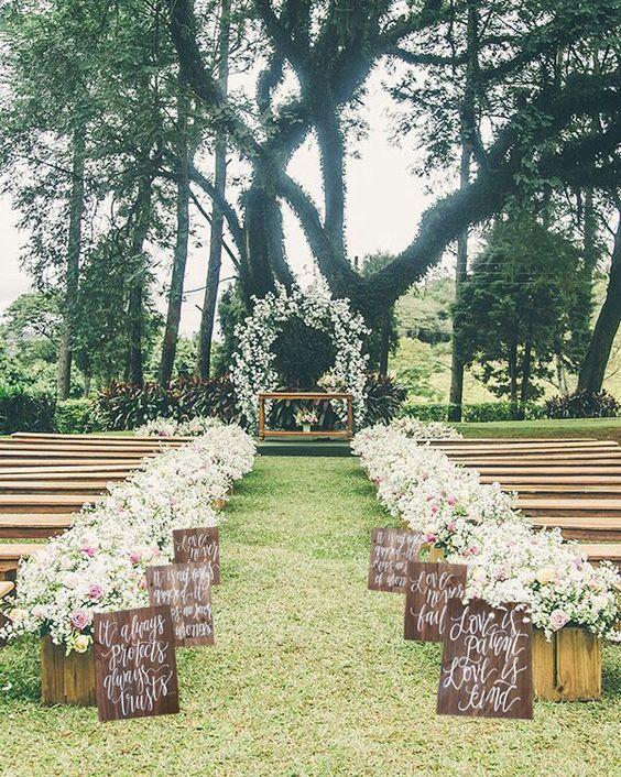 Hochzeit - 100 Awesome Outdoor Wedding Aisles You'll Love