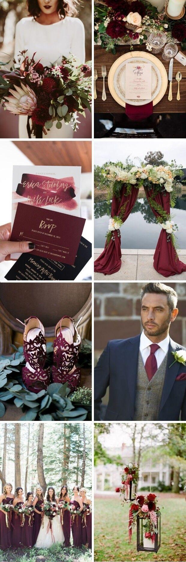 Mariage - A Magical Maroon, Gold & Navy Palette For An Elegant Winter Wedding