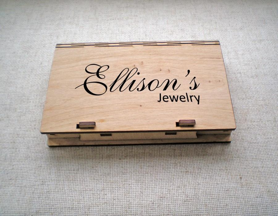 Superieur Wood Box Custom Engraving Box Plywood Storage Box Laser Cut Box Personalized  Trinket Box Monogram Small Box Cards Jewelry Case Wedding Gift