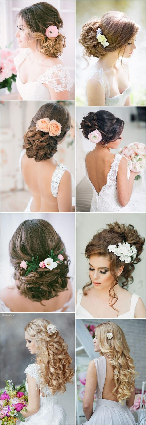 Wedding - Long Wedding Hairstyles Updos With Flowers