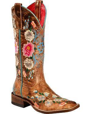 Hochzeit - Women's Square Toe Cowgirl Boots