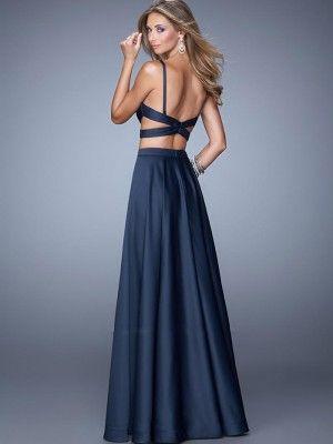 Свадьба - Two Piece A-Line/Princess Sleeveless Straps Chiffon Floor-Length Dresses