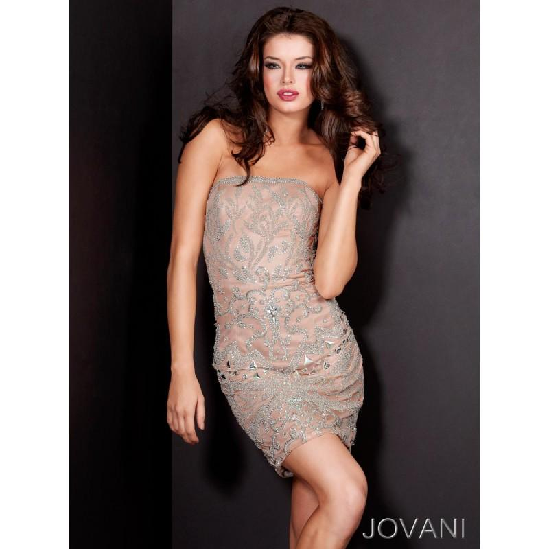 Hochzeit - Classical Stunning Mini Lace Tulle Strapless 2013 Print Formal/evening/bridesmaid Dresses Jovani Cocktail 5640  New Arrival - Bonny Evening Dresses Online