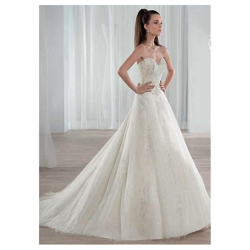 Hochzeit - Fabulous Tulle Sweetheart Neckline A-line Wedding Dresses with Beaded Embroidery - overpinks.com