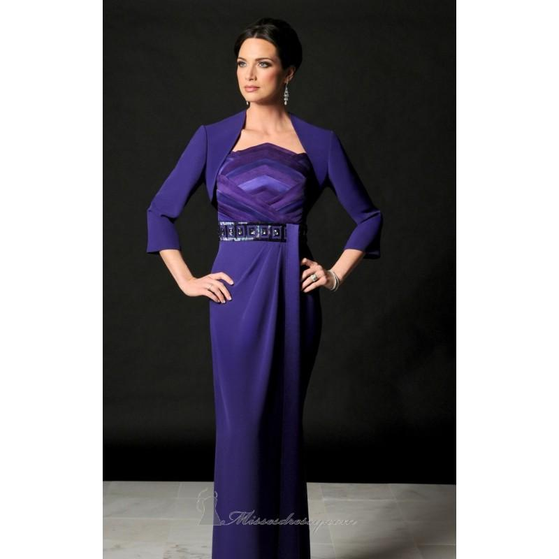 Hochzeit - Amethyst Strapless Sequined Gown by Daymor Couture - Color Your Classy Wardrobe