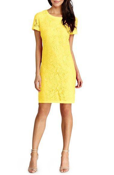 Hochzeit - Lace Short Sleeve Shift Dress