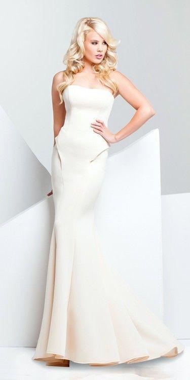 زفاف - Paris Prom By Mon Cheri - 115704 Long Dress In Champagne