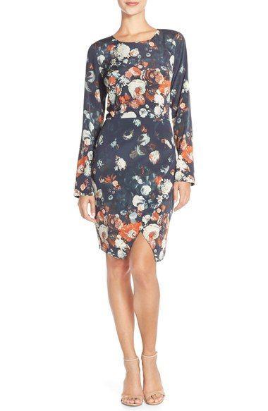 Wedding - Charlie Jade Floral Silk Sheath Dress