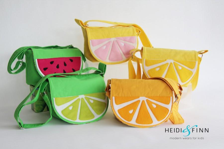 Mariage - NEW fruit slice cossbody messenger bag purse lemon lime orange