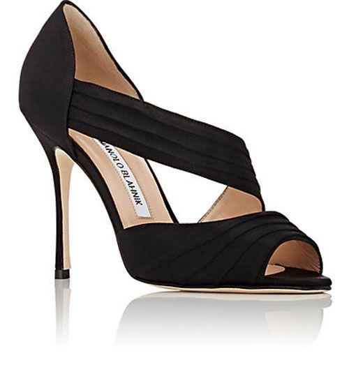 771d425b624 MANOLO BLAHNIK Treuil Asymmetric-Strap Sandals BLACK - $178.00 ...