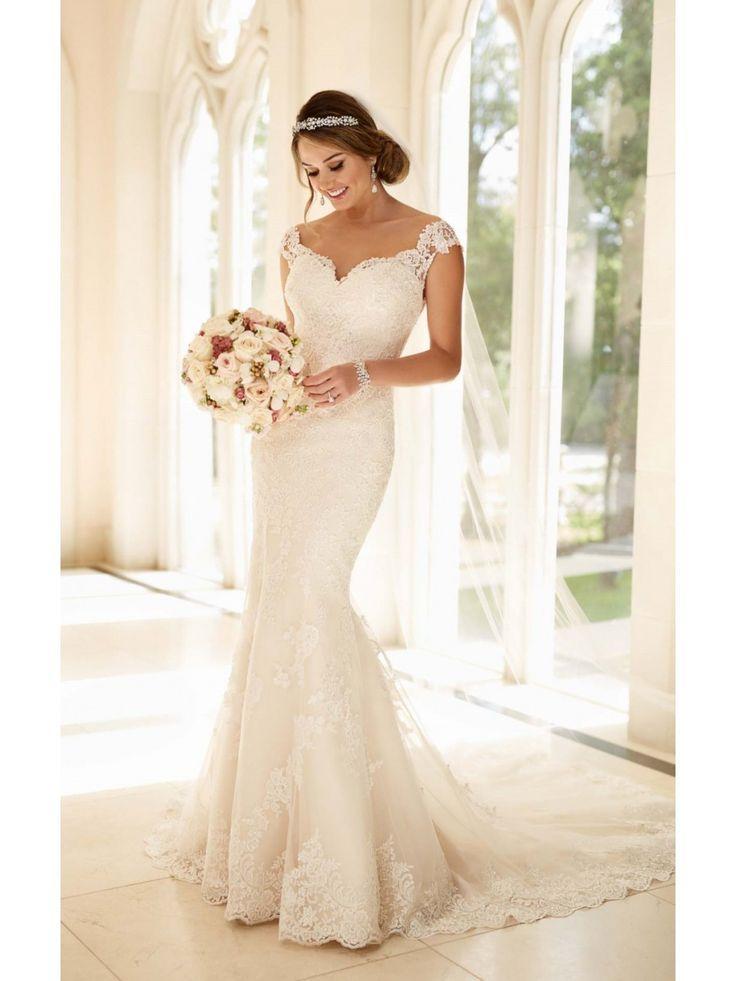 Hochzeit - Modest Pop Sale Trumpet/Mermaid Off-the-Shoulder Lace Wedding Dresses Bridal Gowns 3301177