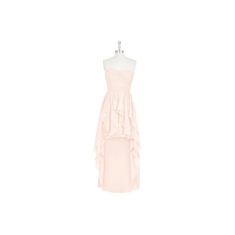 Wedding - Pearl_pink Azazie Abbie - Chiffon Sweetheart Asymmetrical Back Zip Dress - Cheap Gorgeous Bridesmaids Store