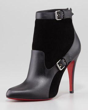 Свадьба - Canassone Buckled Suede-Leather Bootie