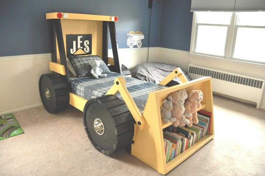 Construction truck bed plans for a diy construction for Construction themed bedroom ideas