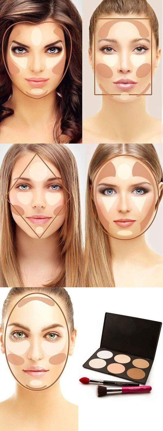 Свадьба - Face Shapes and Contour