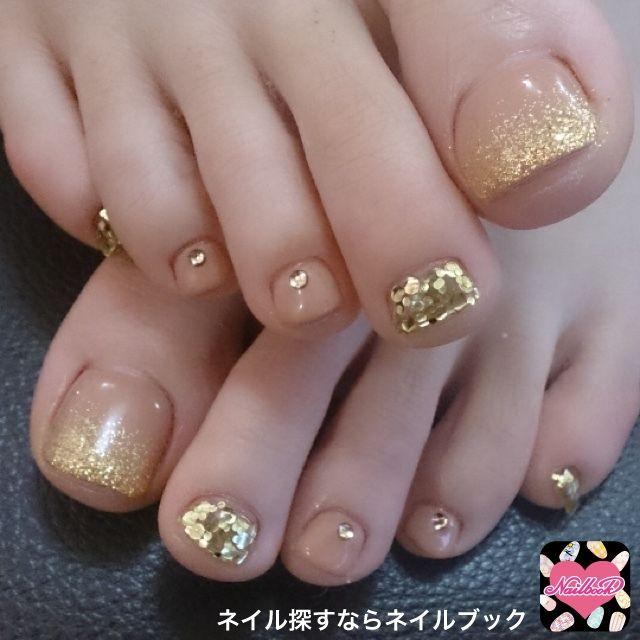 Wedding - Gold Glitter Pedicure