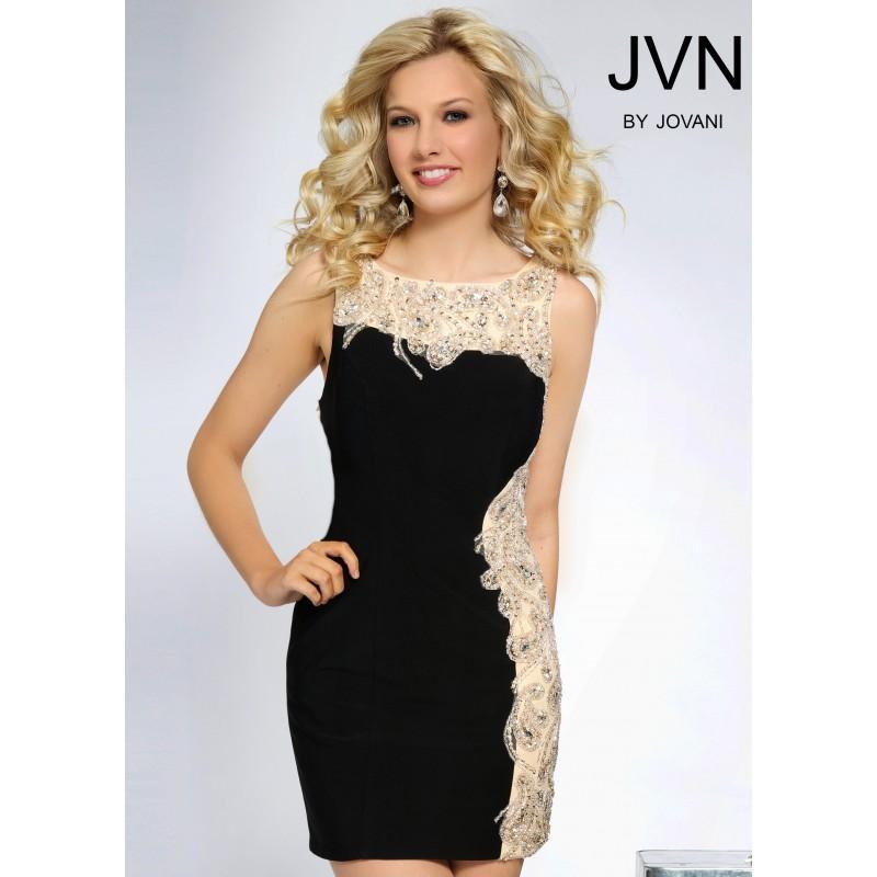 Wedding - JVN by Jovani JVN81113 Beaded Cocktail Dress - 2017 Spring Trends Dresses