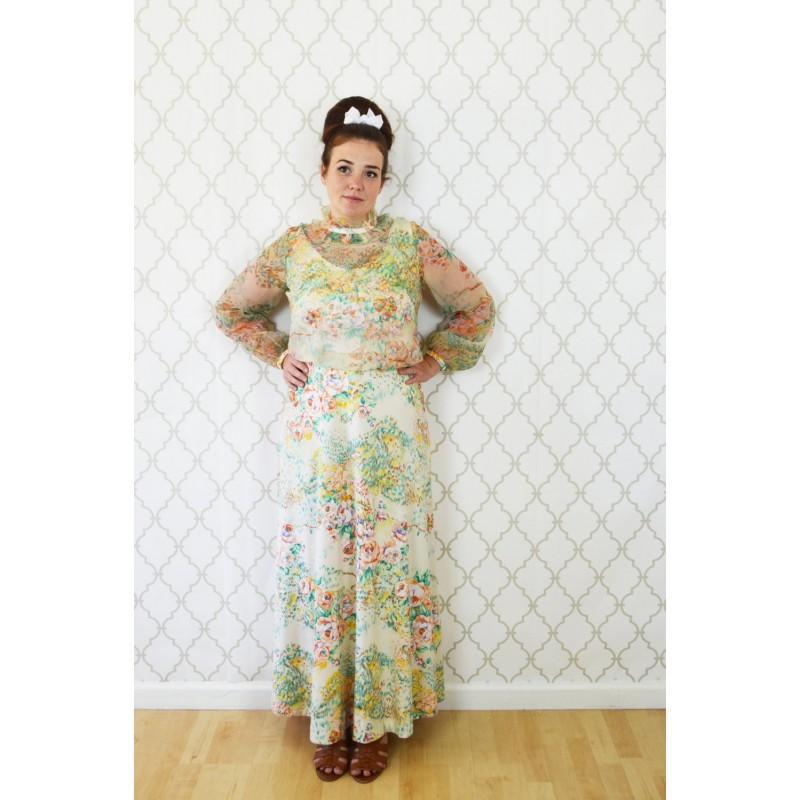 1970s Long Sleeve Dresses