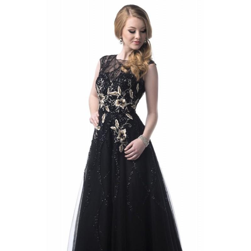 Wedding - Embellished Sheer Bateau Neckline Gown Dresses by Epic Formals 3904 - Bonny Evening Dresses Online