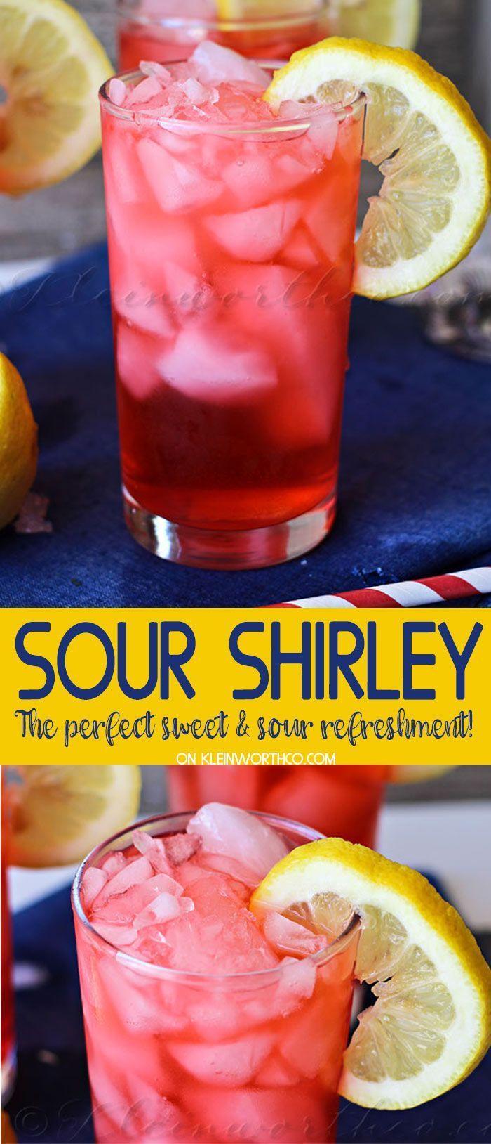 Hochzeit - Sour Shirley Summer Drink