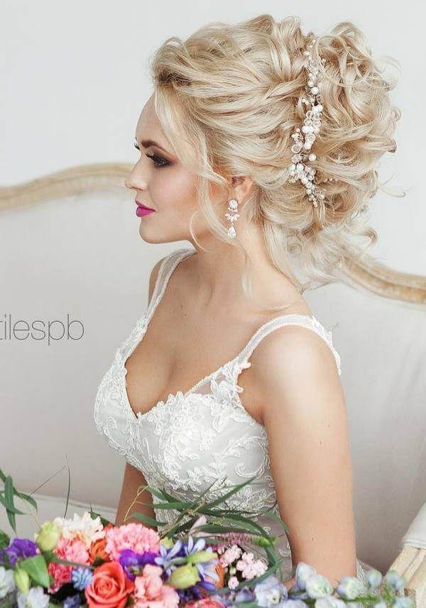 свадебные прически собранный волос
