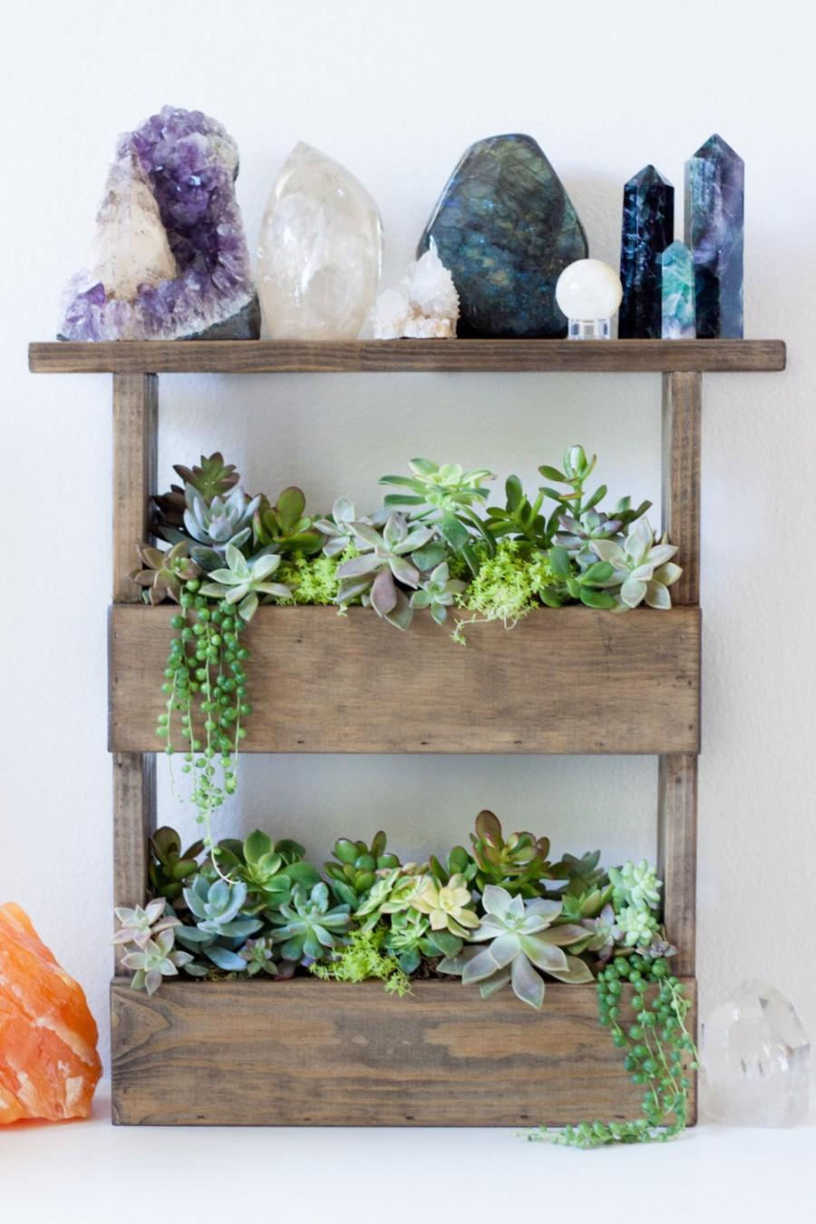 Vertical Wall Planter Box Pallet Style & Crystal Display ...