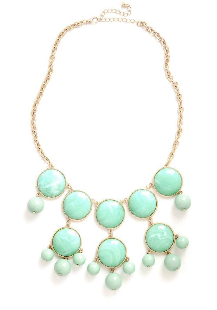 Свадьба - Mint Swirl Necklace