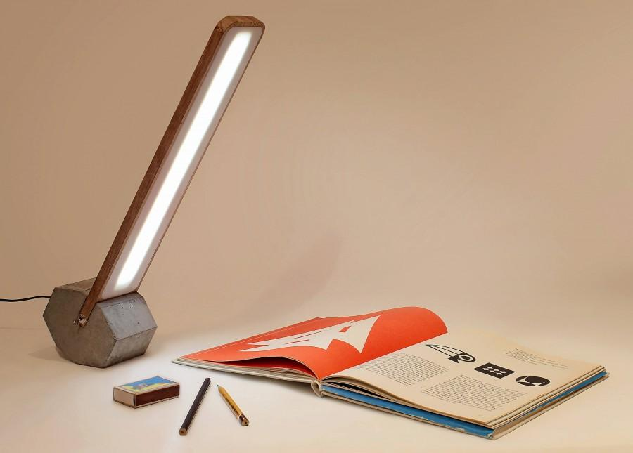 Mariage - Faceted rolled desk LED lamp Octagon-1