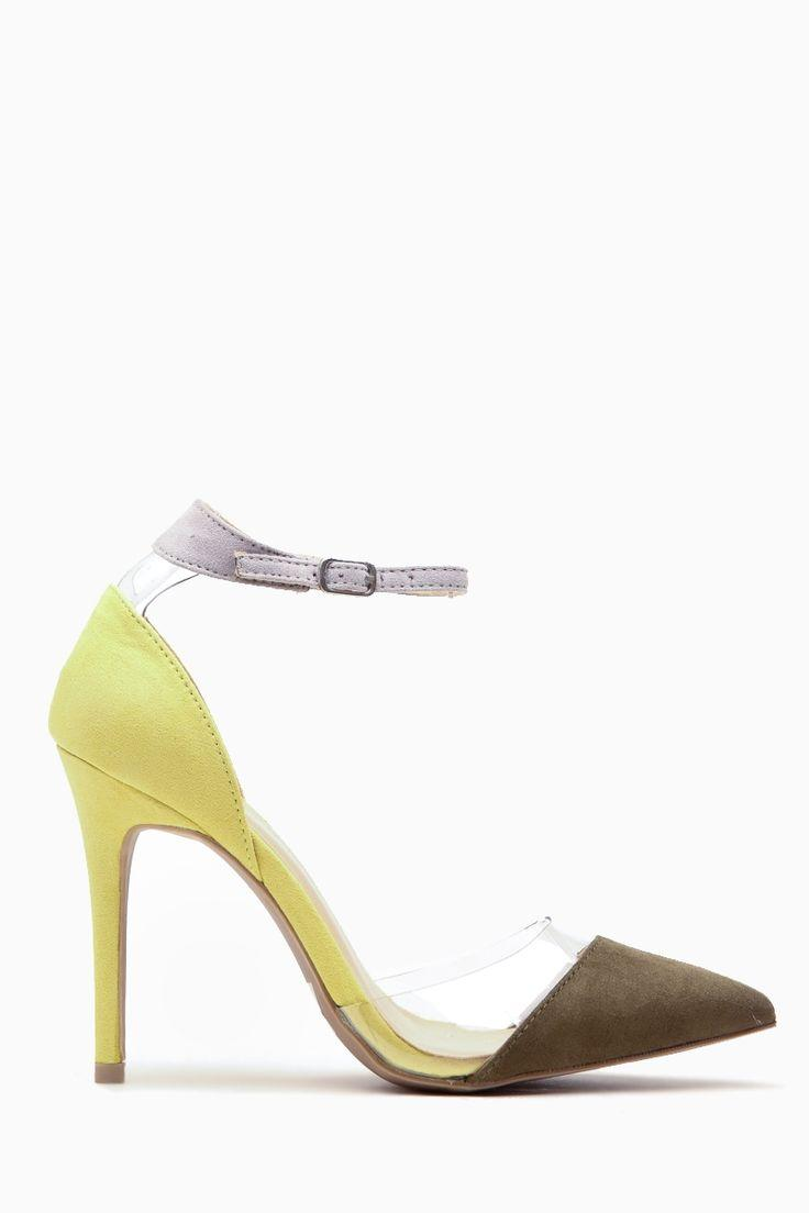7b112ac0e07 Olive Faux Suede Pointed Toe Ankle Strap Vinyl Heels   Cicihot Heel Shoes  Online Store Sales Stiletto Heel Shoes