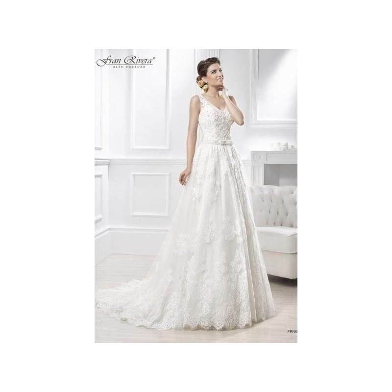 Свадьба - Vestido de novia de Fran Rivera Alta Costura Modelo FRN609 - 2015 Evasé Pico Vestido - Tienda nupcial con estilo del cordón