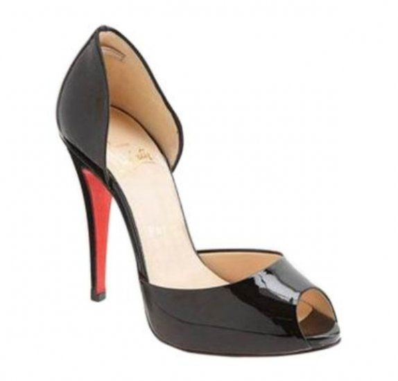 Свадьба - Christian Louboutin Madame Claude D'Orsay Peep Toe Pumps Black [771] - $130.00 : Christian Louboutin Outlet USA