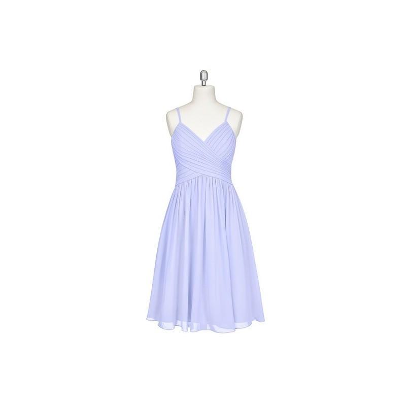 Mariage - Lavender Azazie Sonia - Chiffon Back Zip V Neck Knee Length Dress - Charming Bridesmaids Store