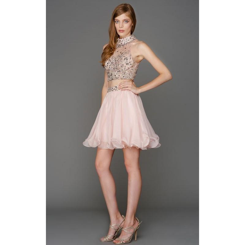 4e9c1ed71e Short Crop Top Homecoming Dress with Chiffon Skirt - Crazy Sale Bridal  Dresses