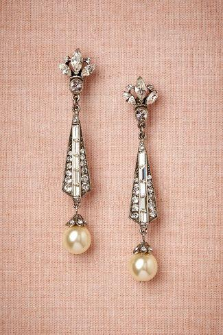 Hochzeit - BHLDN's Ben-Amun Spire Earrings In Pearl