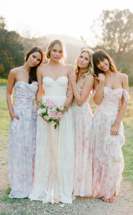 4 Bridesmaid Dresses In The Most Beautiful Prints Ever Seen ...