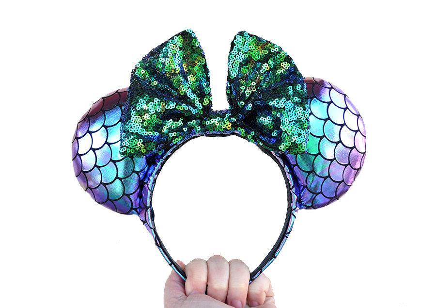Boda - Iridescent Little Mermaid Disney Mickey Mouse Ears Minnie Mouse Ears
