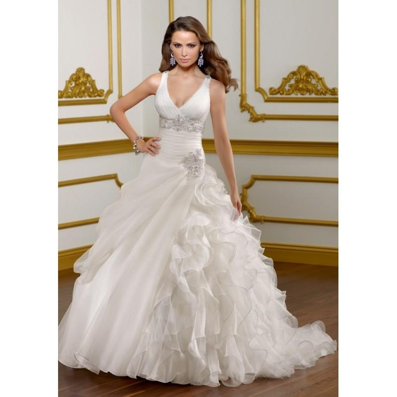 Wedding - Mori Lee 1817 V Neck Ball Gown Wedding Dress - Crazy Sale Bridal Dresses