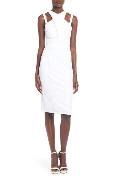 Hochzeit - Speechless Strappy Textured Midi Dress