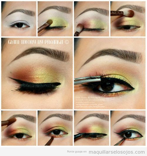 Свадьба - Red And Yellow Eyeshadow