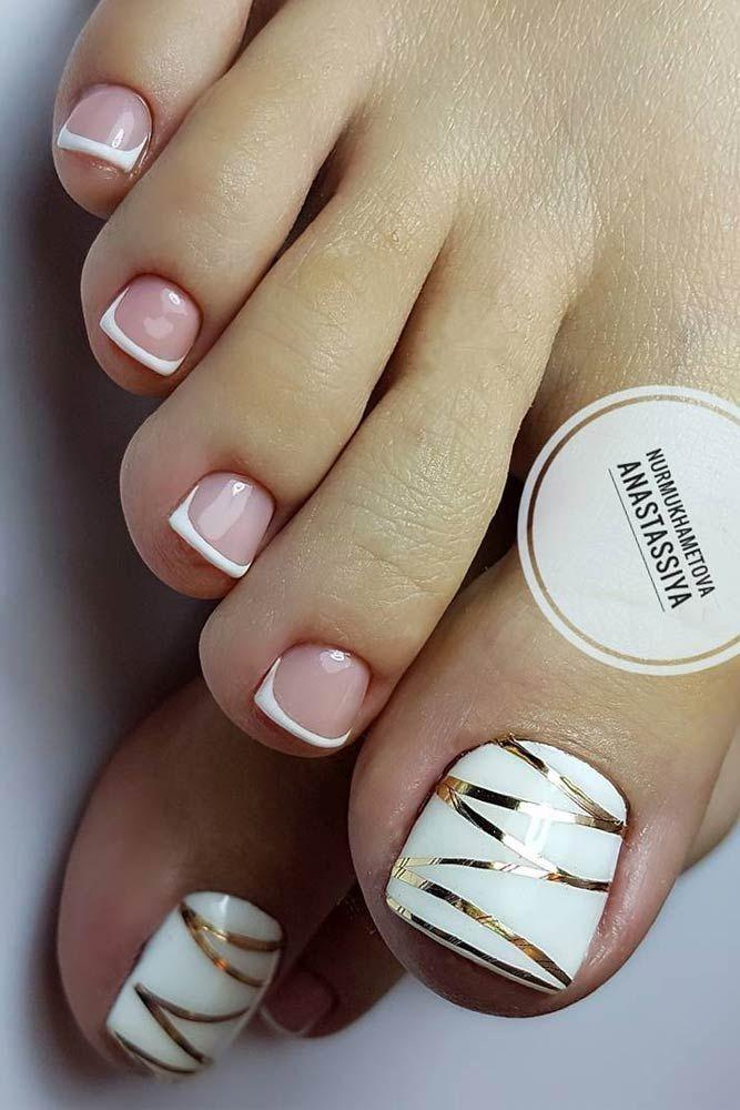 27 Pretty Toe Nail Designs For Your Beach Vacation - 27 Pretty Toe Nail Designs For Your Beach Vacation #2750612 - Weddbook